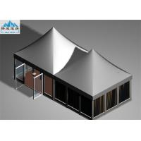 Best 5x5m Pagoda Gazebo Tent with Aluminum Frame White PVC Roof Cover For Wine Festival wholesale