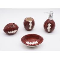 China Ceramic Football Bathroom Sets , Rugby Sanitary Ware Bathroom Accessories Set on sale
