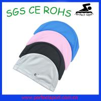Best 90%PA 10% spandex cheap lycra swim caps wholesale