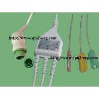 Best One Piece ECG Lead Cable Round 12 Pin IEC And AHA For Electrocardiograph Machine wholesale