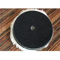Best Wool 6 Inch Hook And Loop Polishing Pads , Sheepskin Buffing Pads For Car Cleaning wholesale