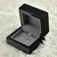 Best Custom Deluxe MDF Jewelry Wooden Box Glossy Black For Cufflinks Storaging wholesale