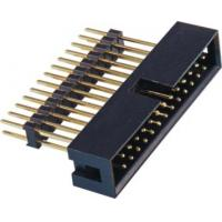 Best 2.54 Pitch Box Header Connector add housing H=2.5 PA9T black  matting with 5212/2185 ROHS wholesale