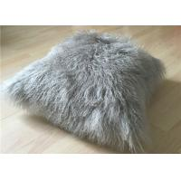 Best Real Super Soft Plush Mongolian Sheepskin Cushion Covers Warm 16x16 Inches wholesale