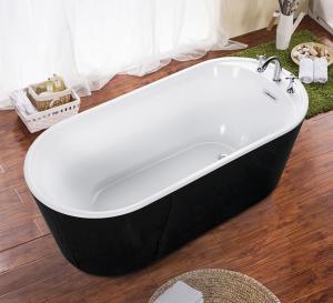 China cUPC one piece black freestanding acrylic tubs,freestanding bath,luxury bathtubs on sale