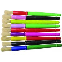 Best 9 Colors Plastic Handle Paint Brushes , Colorful Watercolor Paint Brush Set OEM Avaliable wholesale
