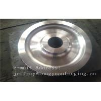 Best 4140 42CrMo4 SCM440 Alloy Steel Rail Forged Wheel Blanks Quenching And Tempering Finish Machining Mine Industry wholesale