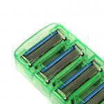 Best 2PCS razor blades Men Manual Shaving Razor blades with 6 Blades High quality blades sharpener blades safety shaver blade wholesale