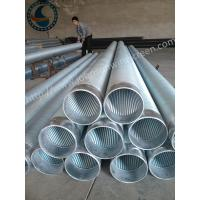 Best Full Welded Johnson Screen Pipe , Stainless Steel Well Pipe For Water Well Drilling wholesale