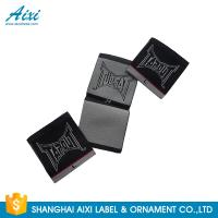Best Black Color Personalized Custom Fabric Labels For Clothes , Logo Design wholesale