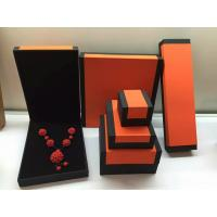 Best Fashion Orange Paper Plastic Hinged Jewelry Gift Boxes Recyclable wholesale