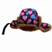 Best Children's Winter Hat with Fake Fur Lining and Belt wholesale