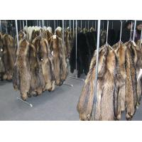 Best Grade A Black Coats Raccoon Fur Collar Comfortable Warm With Satin Lining wholesale