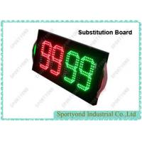 China Electronic Player Substitution Board For Football , Double Sided Substitution Board, super bright LED light on sale