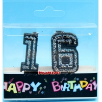 China 100% ParaffinwaxRed Number 1 Birthday Candle on sale