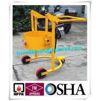 Best Four Wheels Hand Trolley For Steel Drums Storage Cabinets , Portable Drum Lift Trolley wholesale