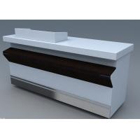 Best Commercial Steel Edge Retail Shop Counters , Practical Store Checkout Counter wholesale