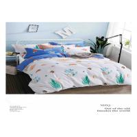 Buy cheap Soft Cotton Natural Green And White Bedding Sets With Cusotmized Logo from wholesalers
