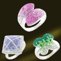 Best 2011 Newest 925 Sterling Silver Jewelry Rings With Crystal (RSL3345) wholesale