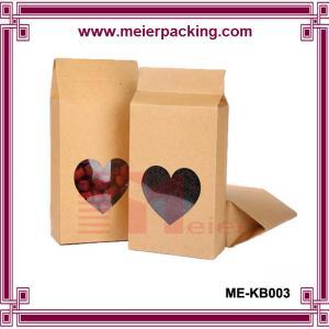 Best Customize moistrue proof stand up aluminum foil kraft paper tea bag with window ME-KB003 wholesale