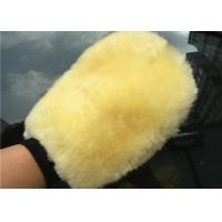 Cheap Lambswool Wash Mitt For Car Interior Cleaning , Lambswool Polishing Mitt for sale