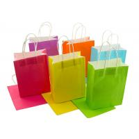 Best Neon Colored Blank Paper Packaging Bags Rainbow Assortment with String Handles wholesale
