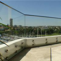 Best Outdoor Frameless Balcony Glass Balustrade with Stainless Steel Glass Standoff wholesale