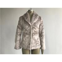China Mink Ladies Fake Fur Coats / Faux Fur Reverse Collar Luxe Coat TW64896 on sale
