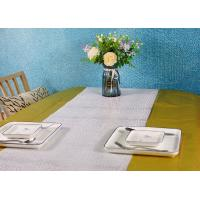 Buy cheap Metallic Color Wood Pulp Disposable Paper Tablecloth Biodegradable Embossed Type from wholesalers