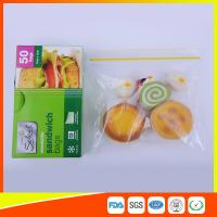 Best Waterproof Plastic Sandwich Bags Reclosable 18 X 17cm For Food Storage wholesale