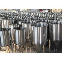 Best 100L Custom Beer Conical Fermenter , Stainless Steel Fermentation Tanks wholesale
