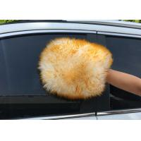 Best Both Side  Lambswool Sheepskin Car Wash Mitt For Auto Cleaning / Polishing wholesale