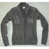 China Men′s Knitted Sweater, Cotton Cardigan (SFY-A063) on sale