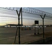Best Safety Strong Welded Wire Fence Panels Square Hole Shape Nice Appearance / Airport Security Fencing wholesale