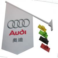 Best Durable Double Sides Shop Front Flags With Bracket / Pvc Pole Full Color Printing wholesale