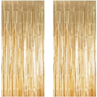 Best Gold Metallic Tinsel Foil Fringe Door Curtains for Party Photo Backdrop wholesale