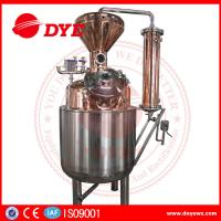 Best 400L Steam Copper Gin Column Whisky Distillation Equipment With Water Tank wholesale