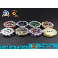 Best ABS Casino Poker Chips , Gambling Plastic Sticker Poker Chips Coins Yangming wholesale