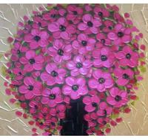 Best pastoral flower 30*50cm 40*60cm paintings,oil painting on canvas wholesale