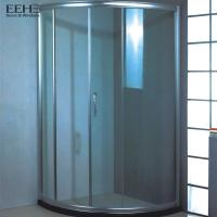 China Frameless Safety Tempered Glass Shower Enclosure With Four Wheel Rollers on sale