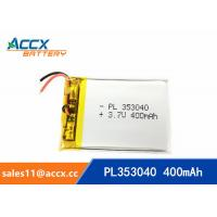 Best 353040pl rechargeable 353040 3.7v 400mah lithium polymer battery for MP3 player, MP4 player wholesale
