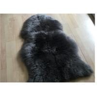 Best Genuine Four Pelt Sheepskin Rugs , White Cream Natural Home Sheepskin Rug  wholesale