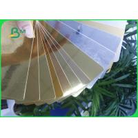 Best 275GSM Cardboard Paper Roll , Aluminum foil Gold / Silver paper Card for Super gift package wholesale