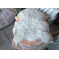 Best 100% Polyester Plain White Faux Sheepskin Rug Living Room 100*100 CM OEM wholesale