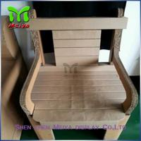 Cheap Natural / Brown , Retro Recycled Cardboard Furniture chairs For Subway & Bus Station for sale