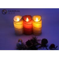 Best Colorful Moving Flame Led Candles Paraffin Wax Material 7.5cm Diameter wholesale