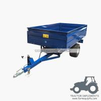 Best 1TR2W tractor trailer 1.0Ton Loading capacity,farm Hydraulic dump trailer with CE wholesale