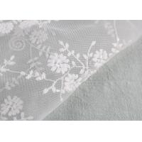Cheap Floral Embroidery Bridal Scalloped Edges Lace Fabric For Off White Wedding Gowns for sale