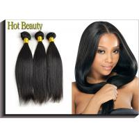 Best Natural Black Remy Virgin Human Hair Extensions Straight Type wholesale