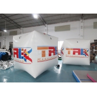 Best Square Inflatable Swim Buoy 2x2x2m Cube Floating Inflatable Marker Buoy Water Sports Pontoon wholesale